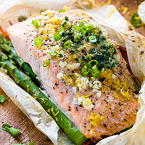 image for a (Class Added on 9/27) Couples Cook A Sophisticated Coastal Menu …Featuring Salmon en Papillote