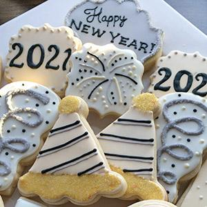 image for a Junior Chefs (ages 9-14): A New Year's Eve Cookie Decorating Party for Kids!