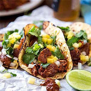 image for a Mexican Food Truck Favorites... featuring Tacos el Pastor!