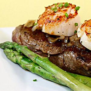 image for a Couples Cook An Elegant Surf & Turf Dinner For Two