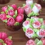 The image for Cupcake 'Bouquets' including the Uber Popular 'Russian' Decorating Tip Techniques